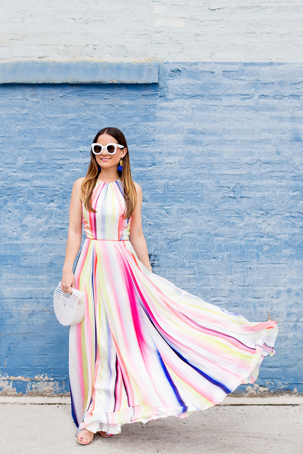 Coast Multicolor Watercolor Dress