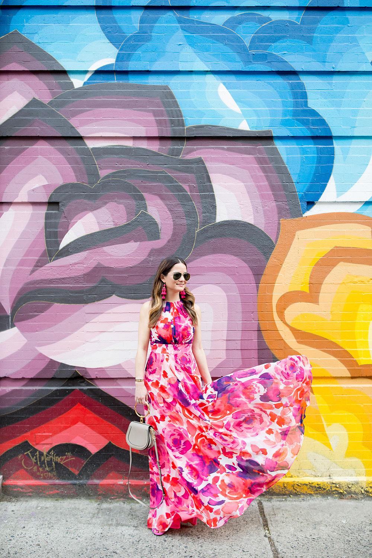 Colorful Floral Mural Nolita