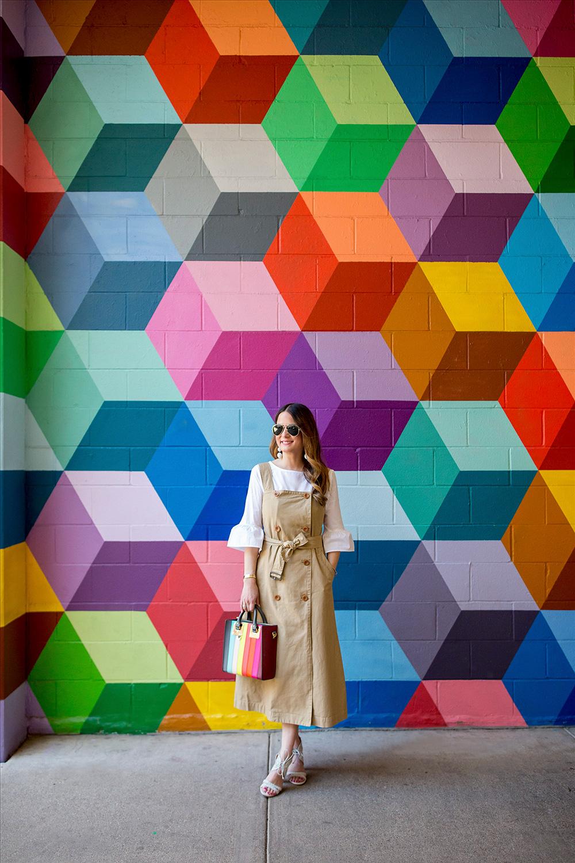 Dallas Multicolor Geometric Wall