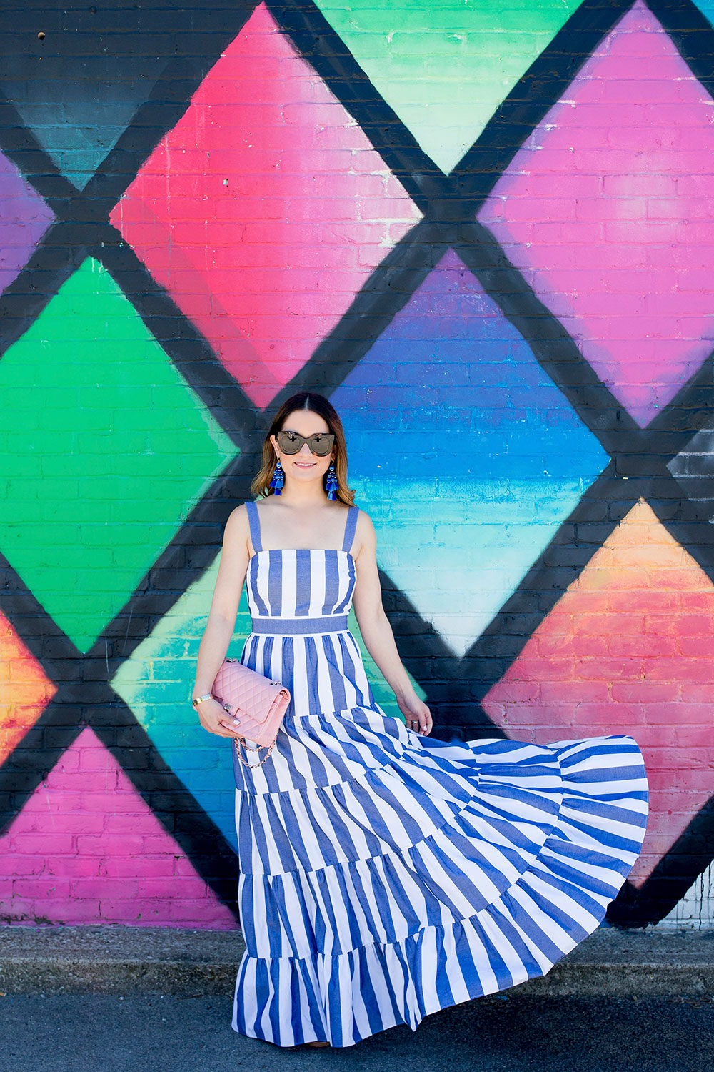 Eliza J Striped Maxi Dress