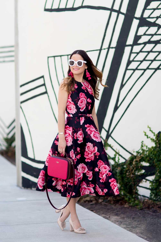 Kate Spade Rose Floral Dress