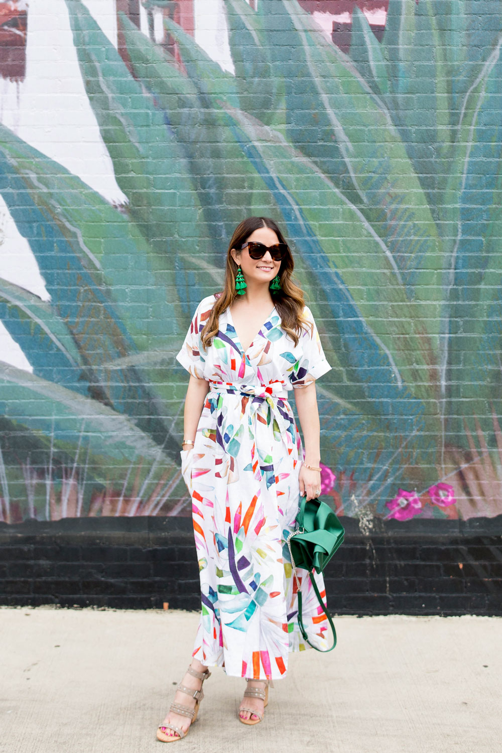 Mara Hoffman Palm Print Dress