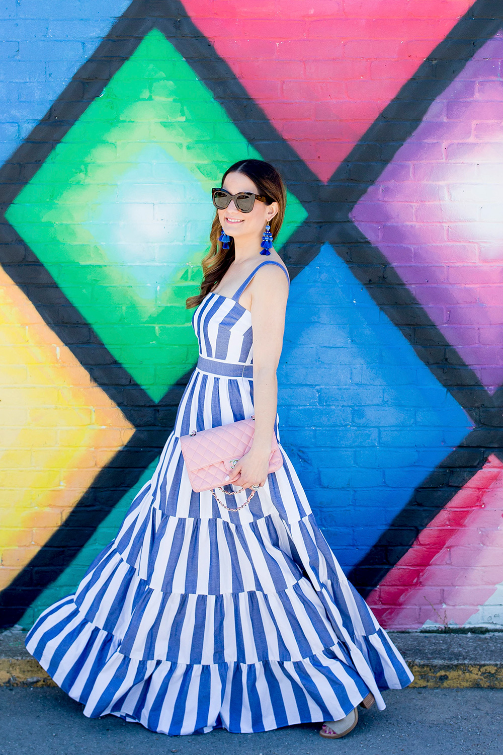 Nordstrom Blue Stripe Maxi Dress