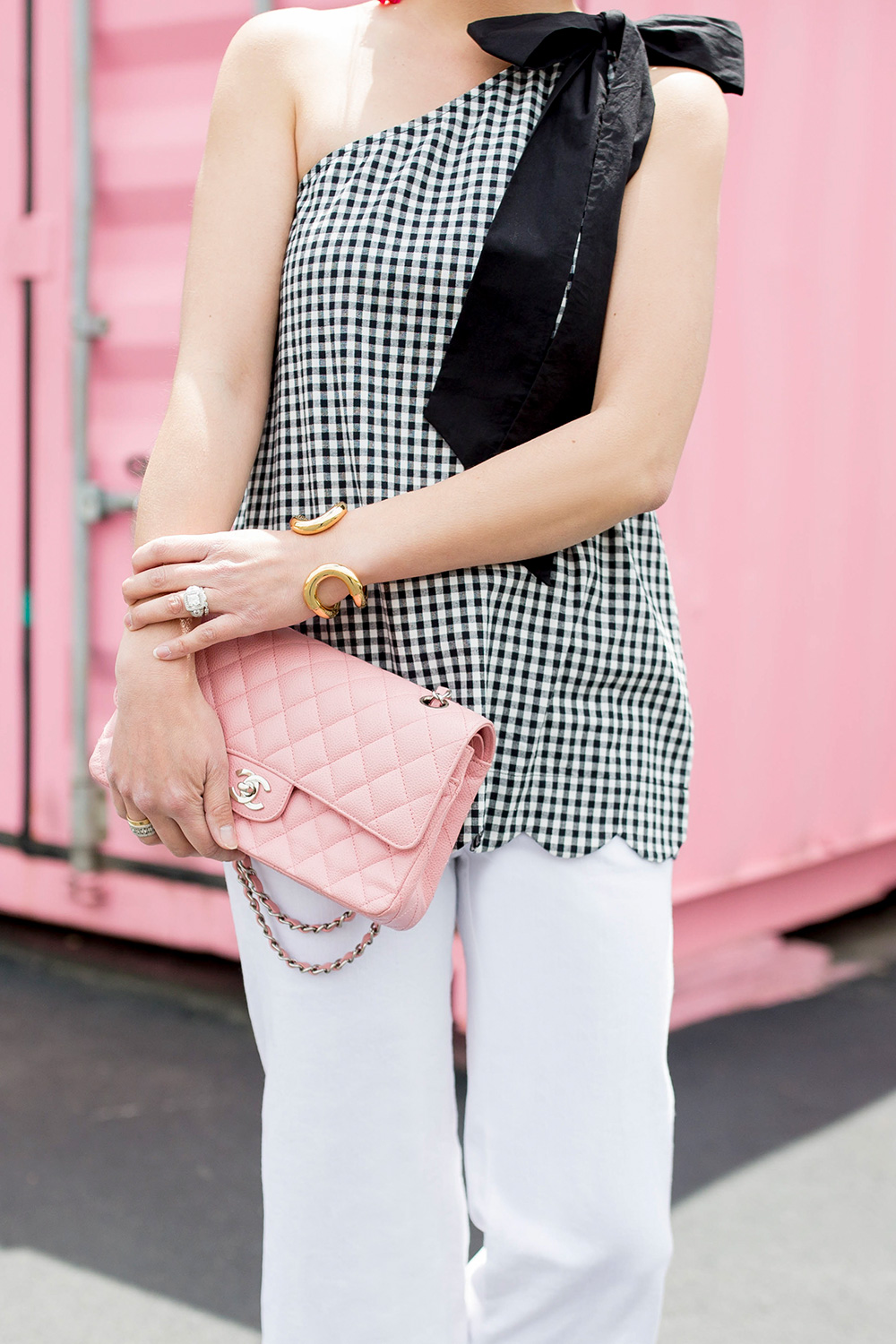 Pink Chanel Quilted Flap Bag