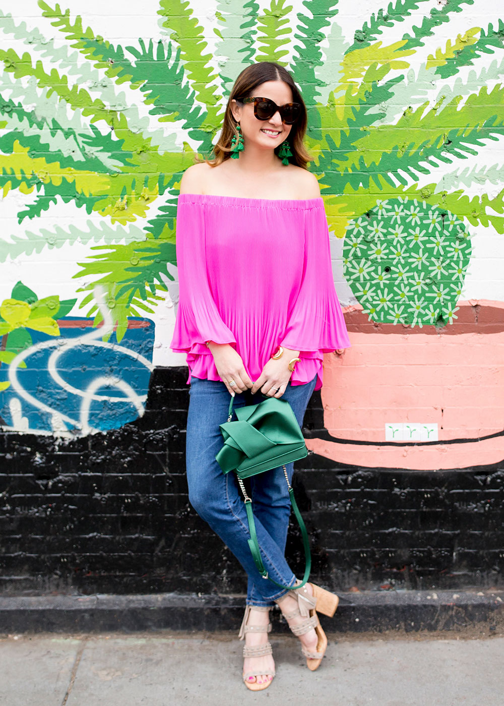Pleated Off Shoulder Blouse
