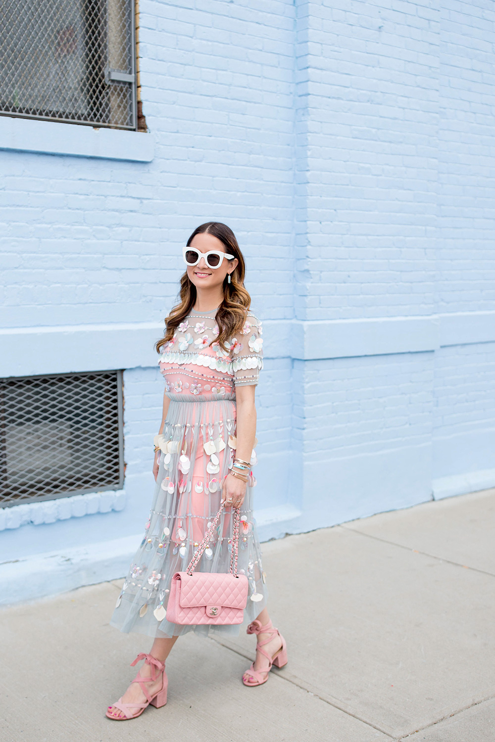 Sequin Embellished Midi Dress