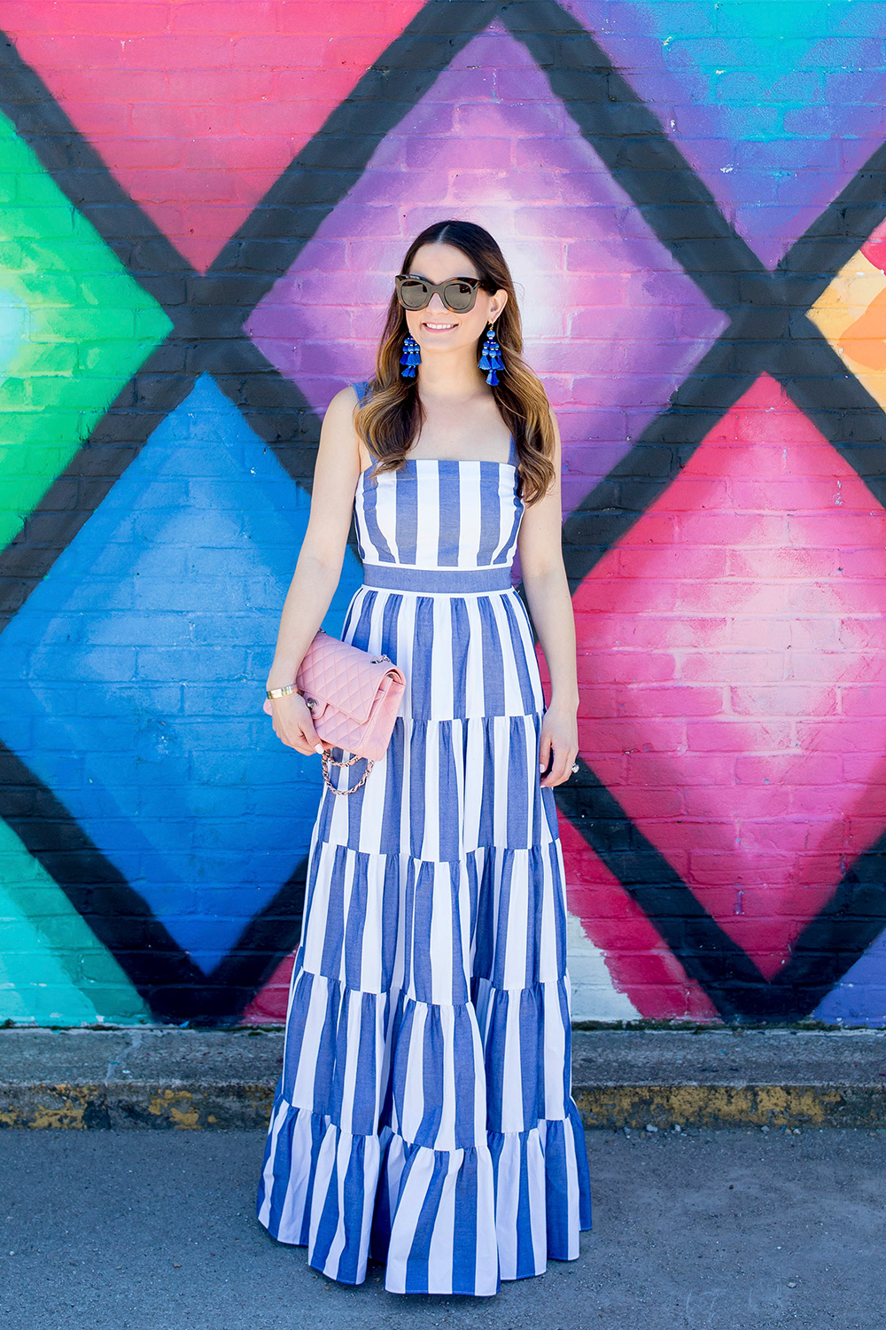Stripe Tiered Maxi Dress