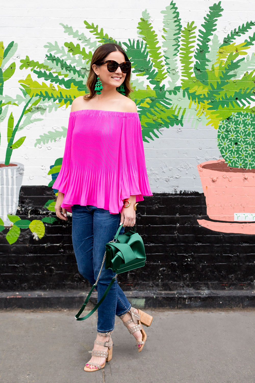 Vince Camuto Pleated Off Shoulder Top