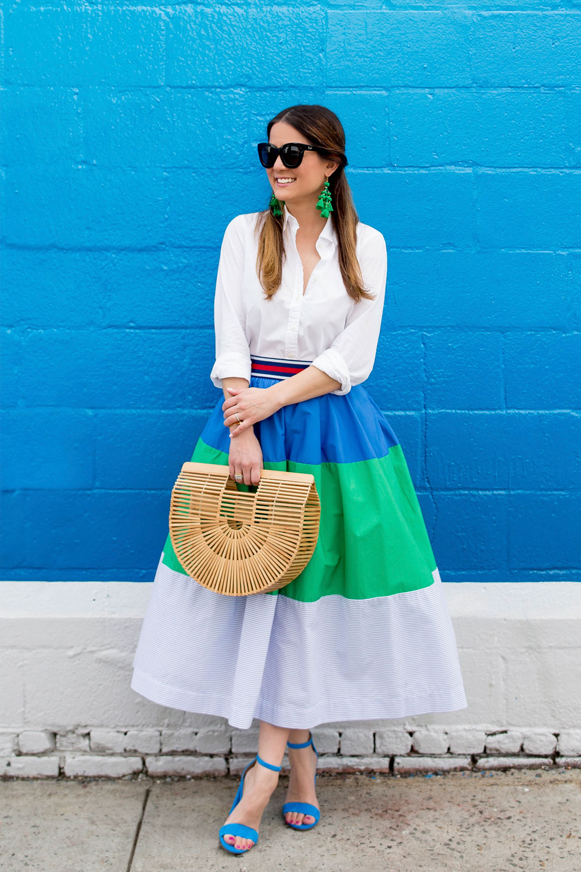 Anthropologie Colorblock Skirt