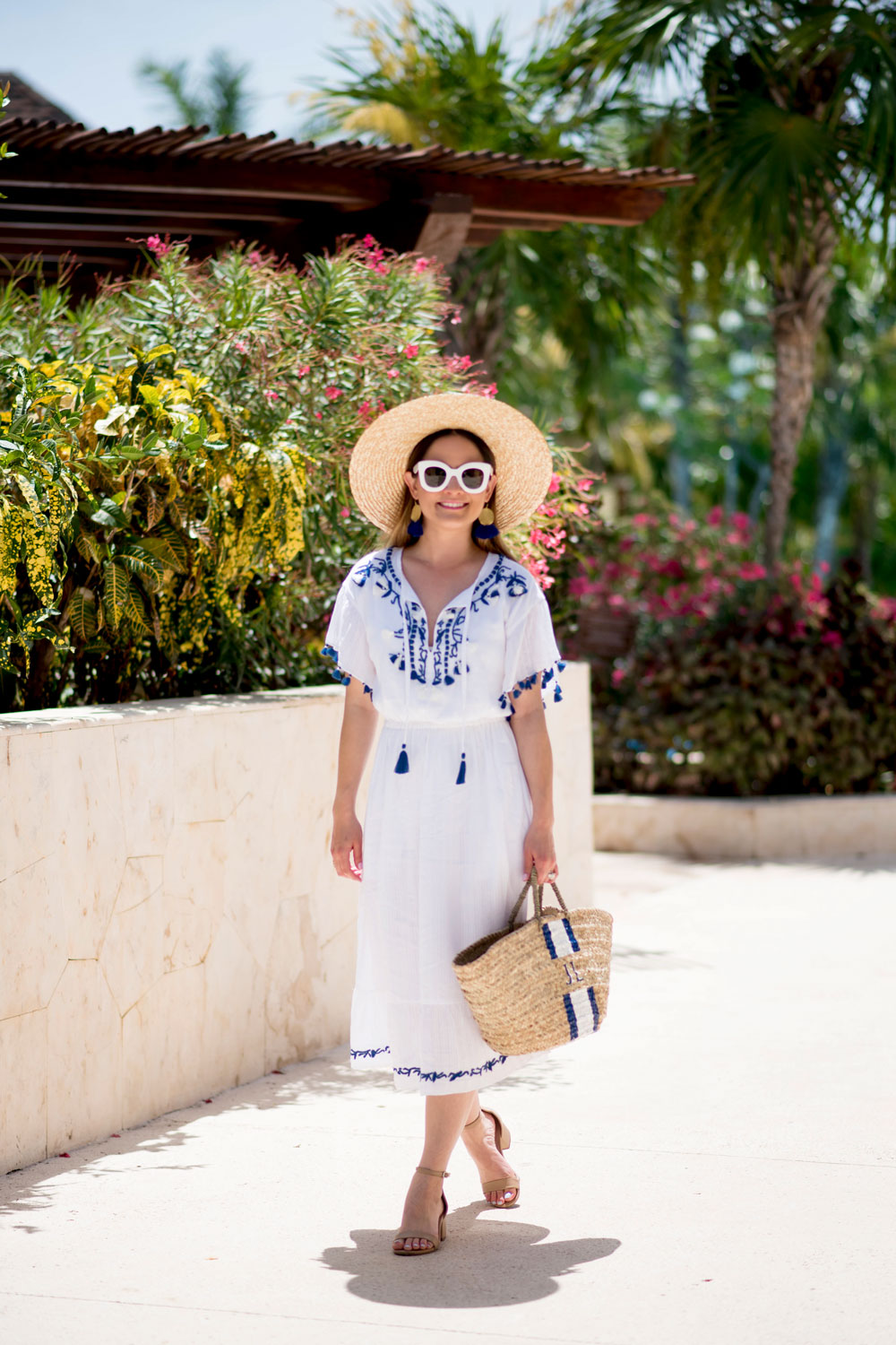 Club Monaco Blue White Sundress