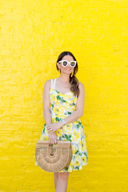 Yellow Daisy Fit Flare Dress