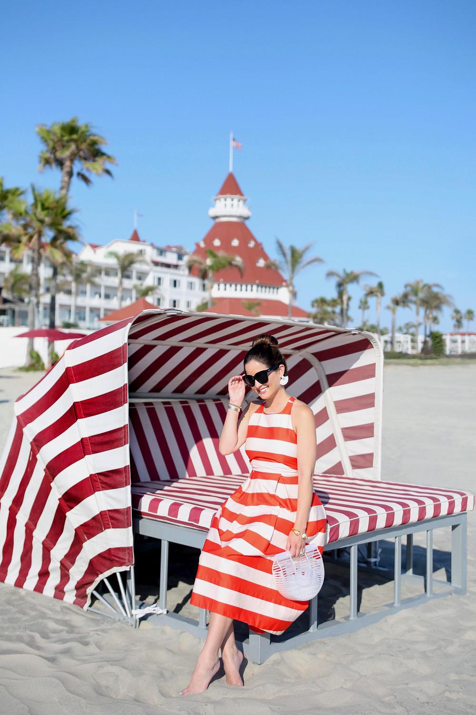 Hotel Del Coronado Red Stripe Beach