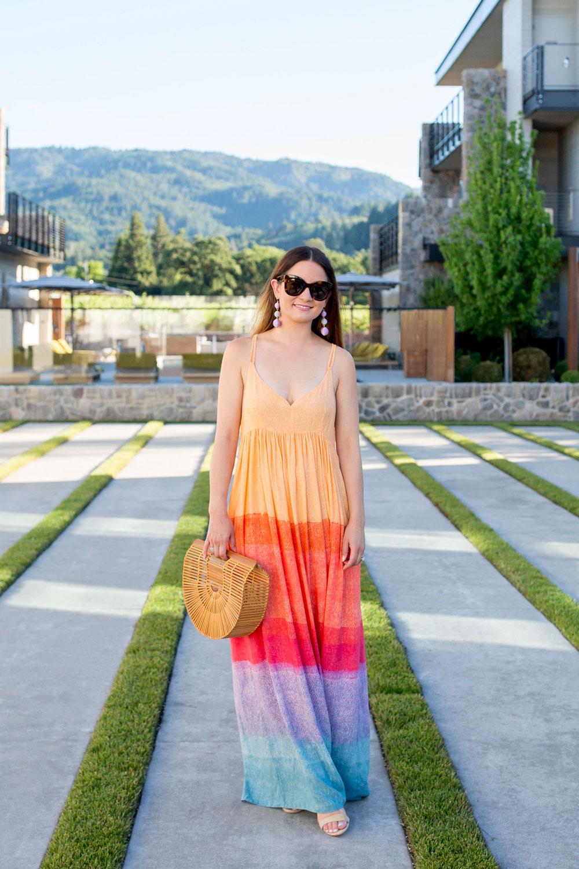 Multicolor Ombre Maxi Dress