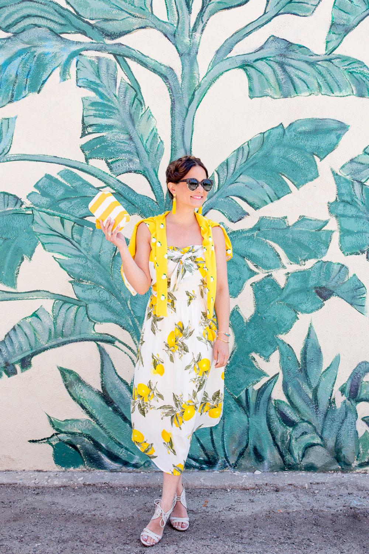 Nordstrom Lemon Print Dress