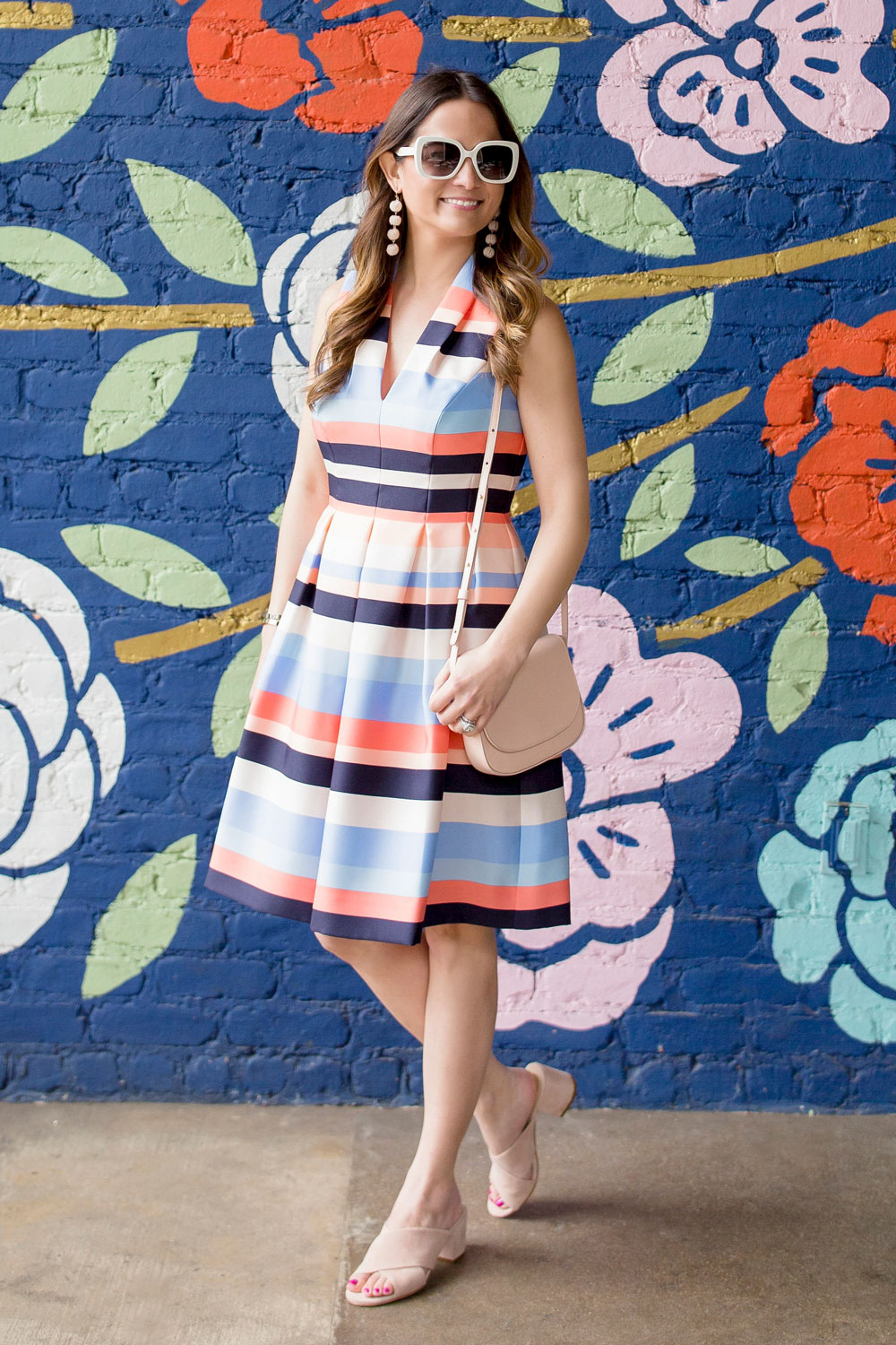 Nordstrom Stripe Fit Flare Dress