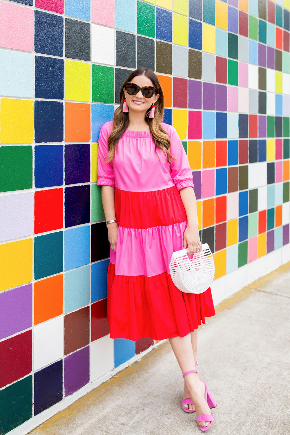 Color Block Ruffle Dress