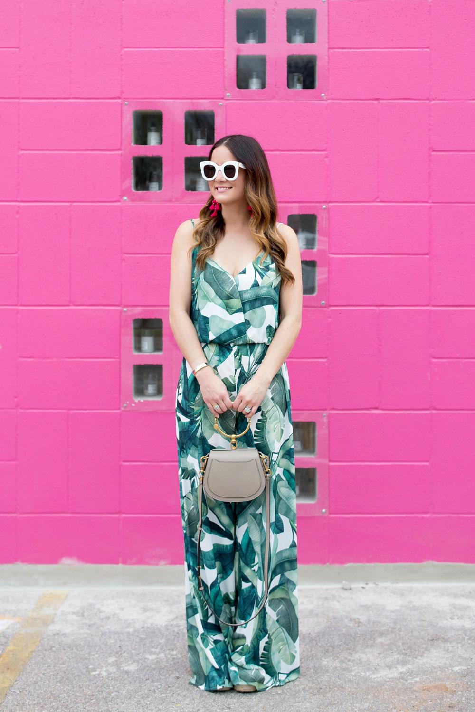 Show Me Your MuMu Palm Print Jumpsuit