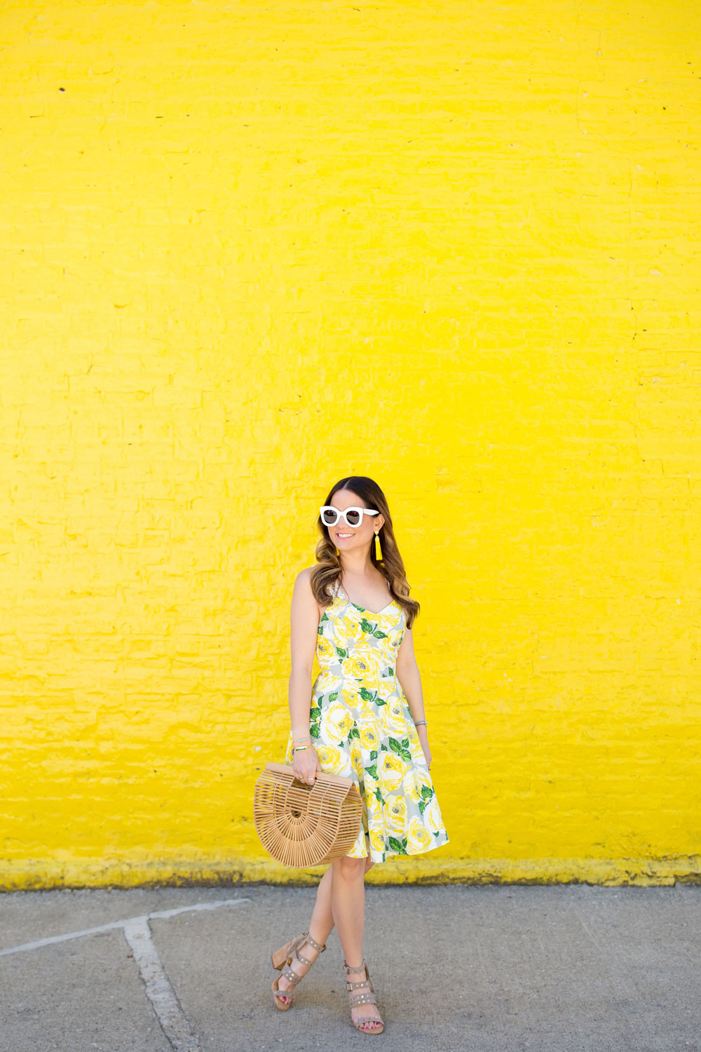 Yellow Floral Daisy Dress