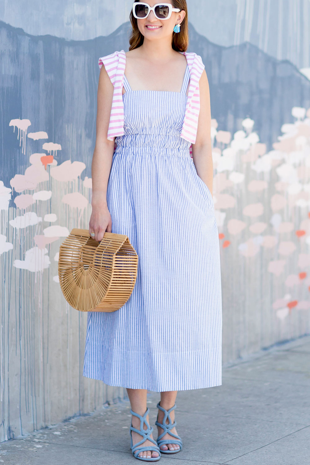 Club Monaco Blue Stripe Theah Dress