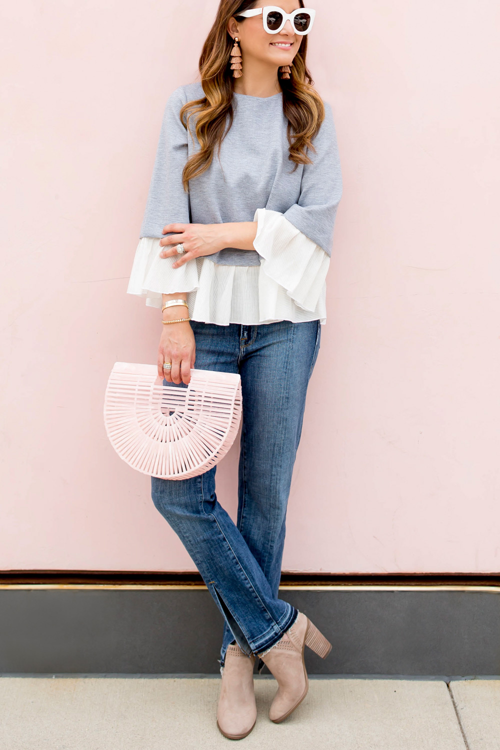 Cult Gaia Pink Ark Bag