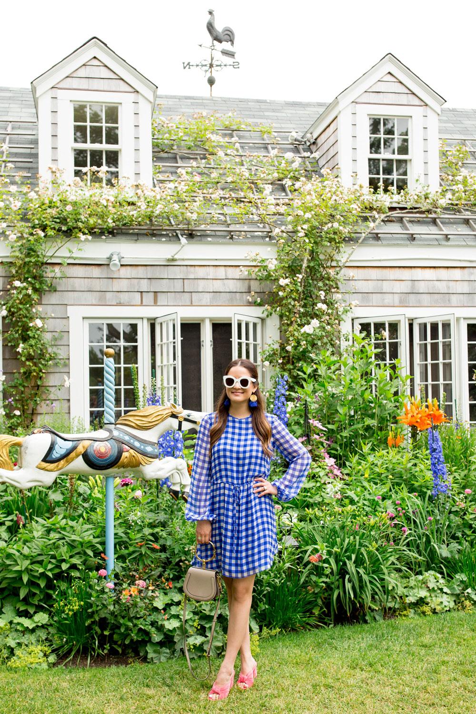 Diane von Furstenberg Blue Gingham Dress