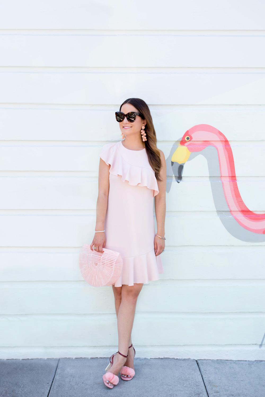 Donna Morgan Pink Ruffle Dress