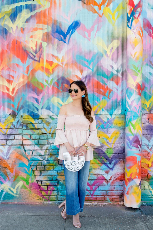DTLA Multicolor Hearts Mural Wall