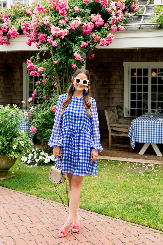 DVF Blue Gingham Dress