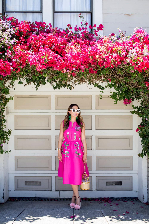Fashion Blogger California Bougainvillea