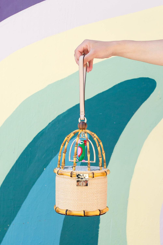Kate Spade Haute Stuff Parrot Cage Bag