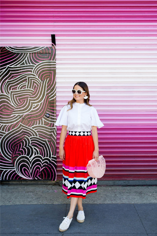 Kate Spade Red Midi Skirt