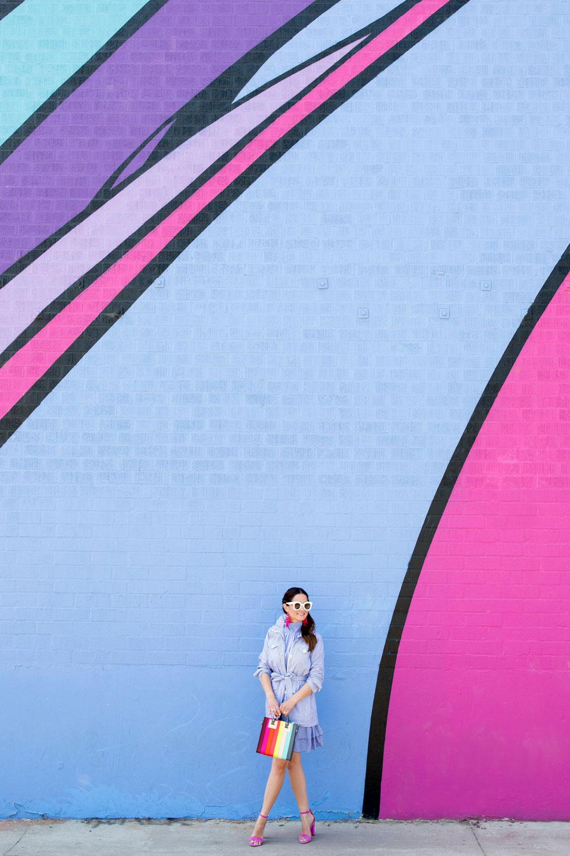 Los Angeles Blue Purple Wall