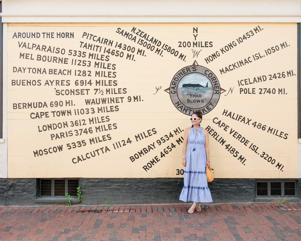 Nantucket Mural Street Art Compass