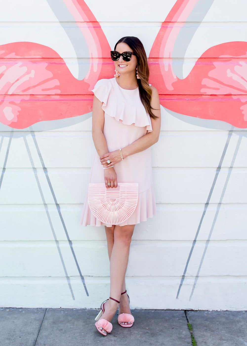 Donna Morgan Pink Ruffle Dress