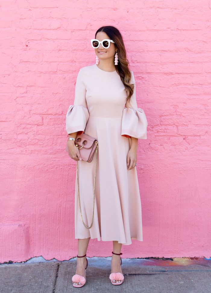 Roksanda Pink Bell Sleeve Dress
