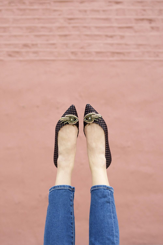 Sam Edelman Embellished Flat