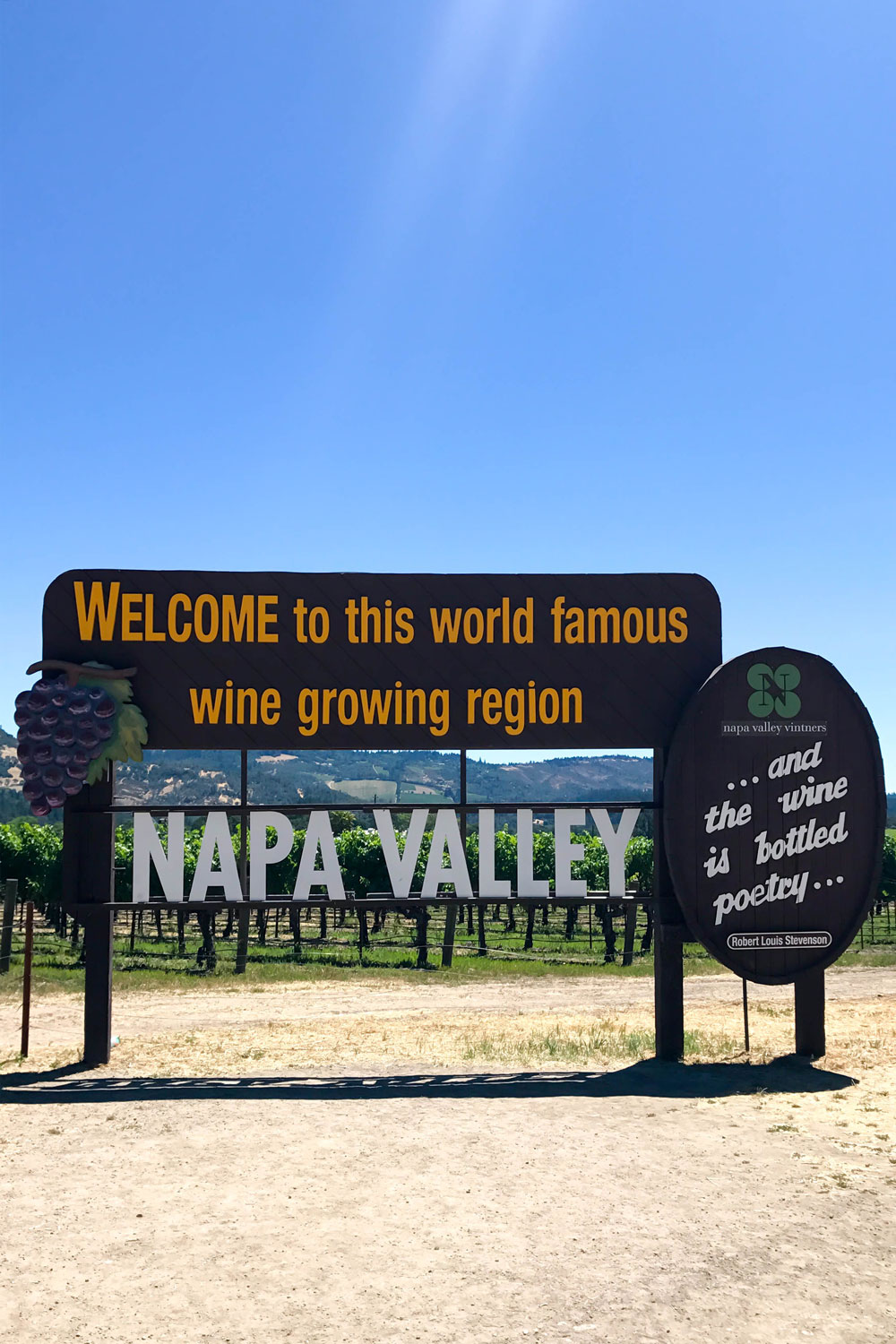 Welcome Napa Valley Sign
