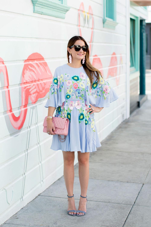 ASOS Salon Floral Embellished Dress