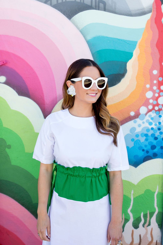 Celine White Marta Sunglasses