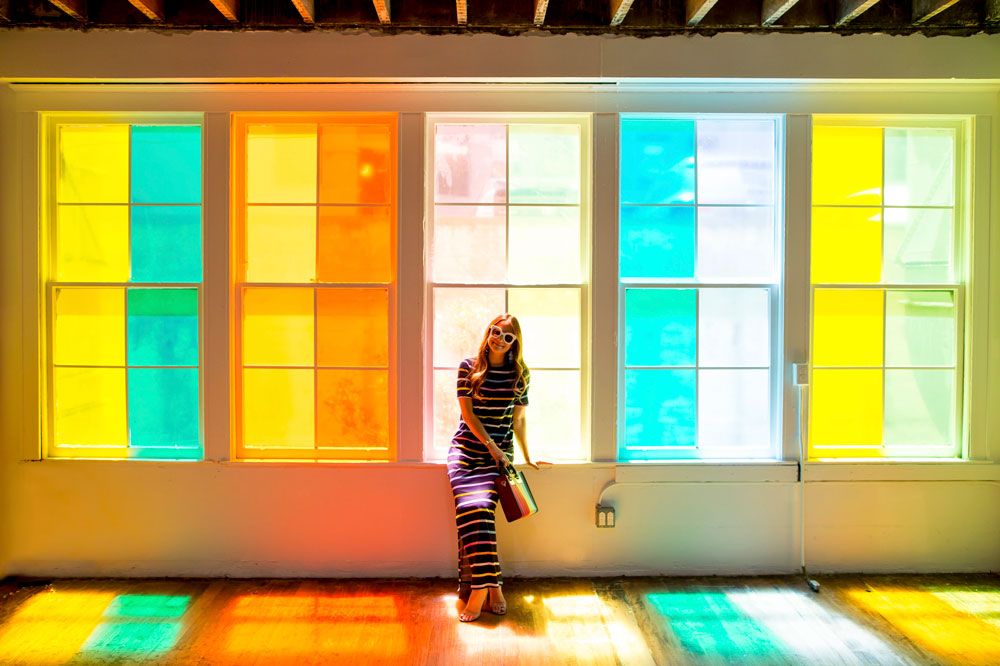 Color Factory Ombre Rainbow Windows