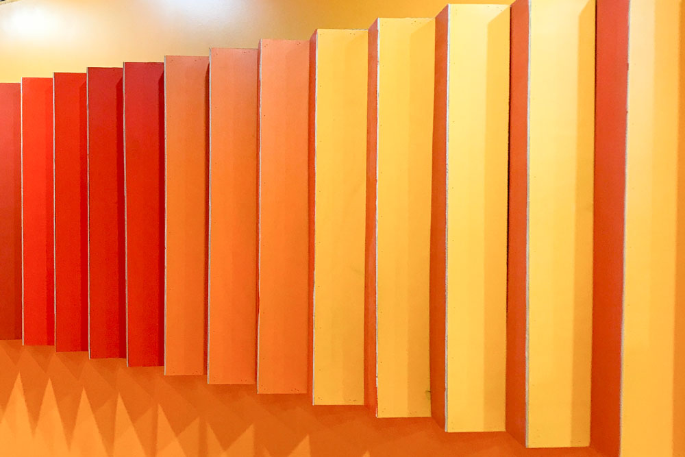 Color Factory Orange Ombre Wall