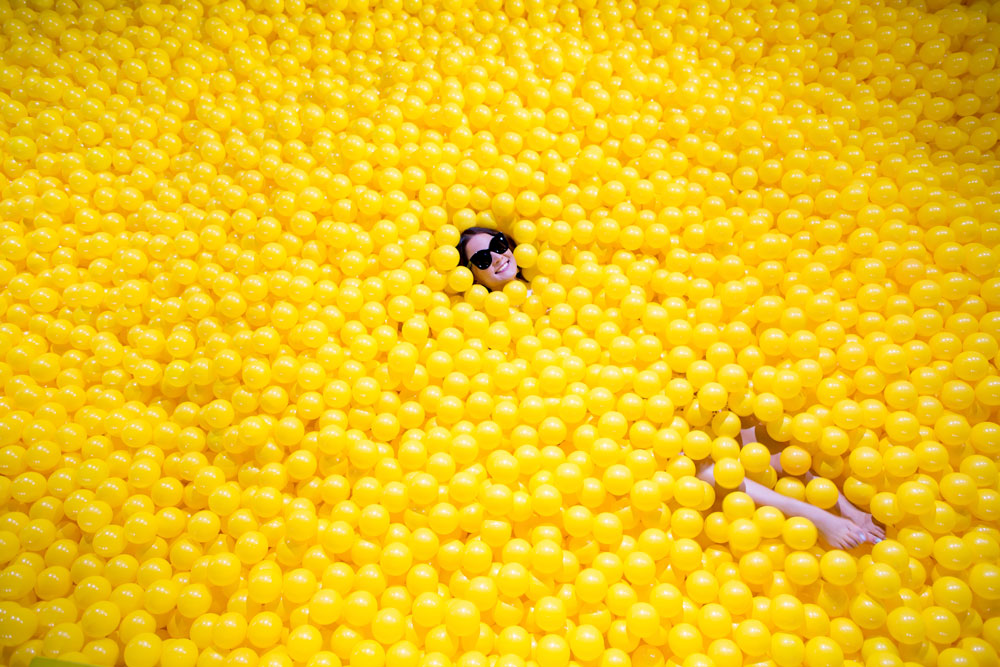 Color Factory Yellow Ball Pit