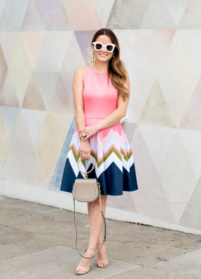 Styling a Ted Baker Pink Fit and Flare Dress Two Ways