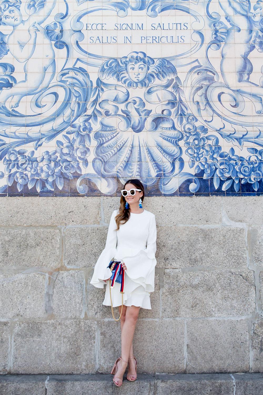 Jennifer Lake White Ruffle Dress