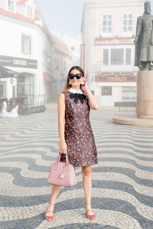 Kate Spade Boho Floral Jacquard Dress