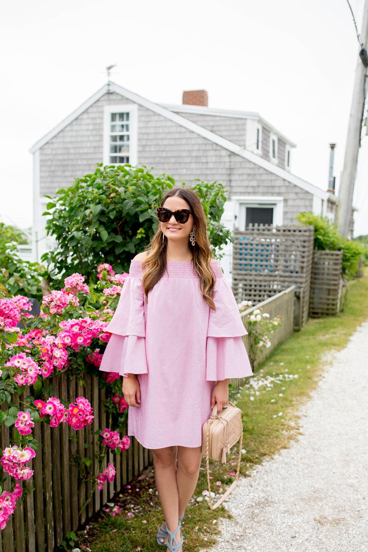 Nordstrom Pink Off Shoulder Dress