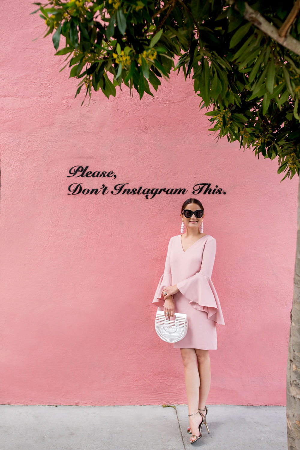 How To Style A Pink Statement Sleeve Shift Dress Style