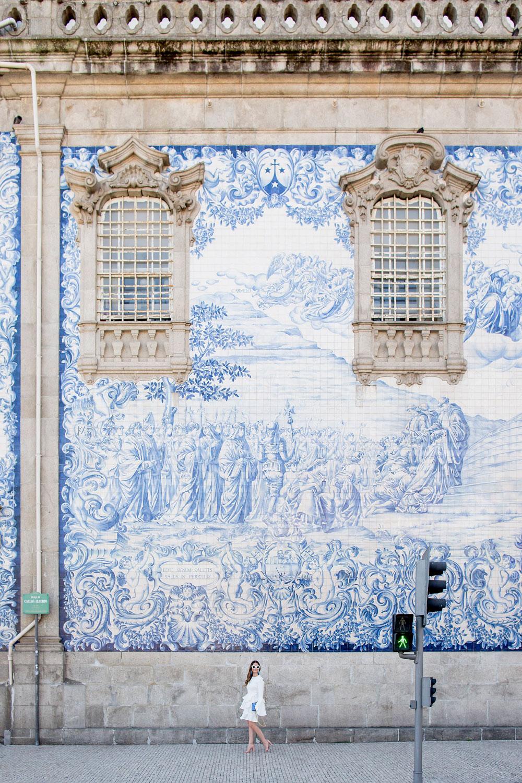 Porto Carmo Church Blue Tile Wall