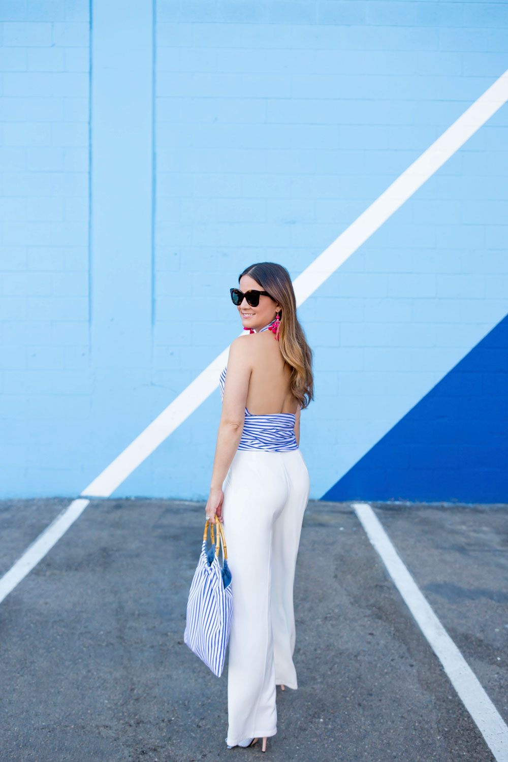 San Diego Blue Stripe Wall