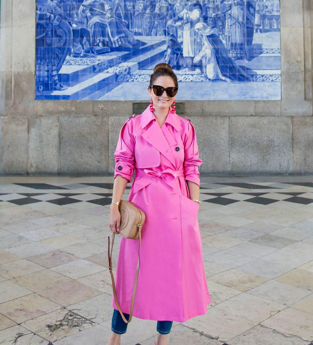 ASOS Neon Pink Trench Coat